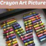 DIY Crayon Art Picture
