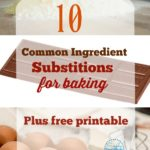 common ingredient substitions for baking