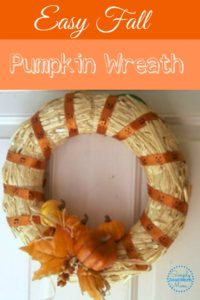 How to Make An Easy Fall Pumpkin Wreath