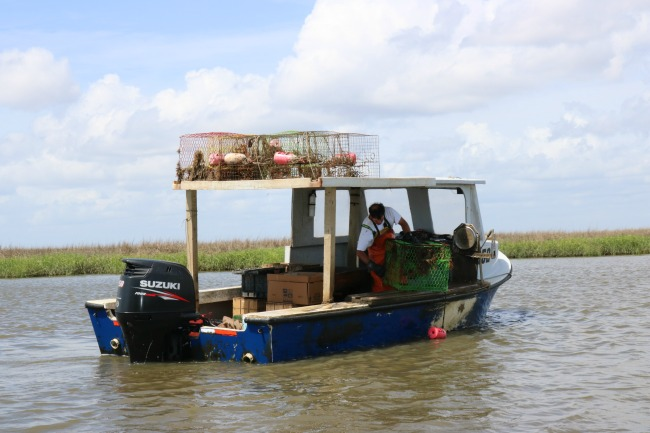 We came across this crab boat during our tour.