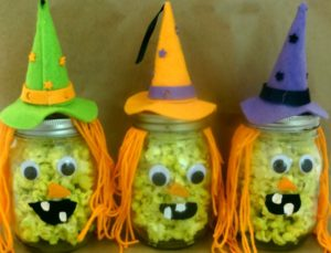 Popcorn Witches  Halloween Recipe and Craft