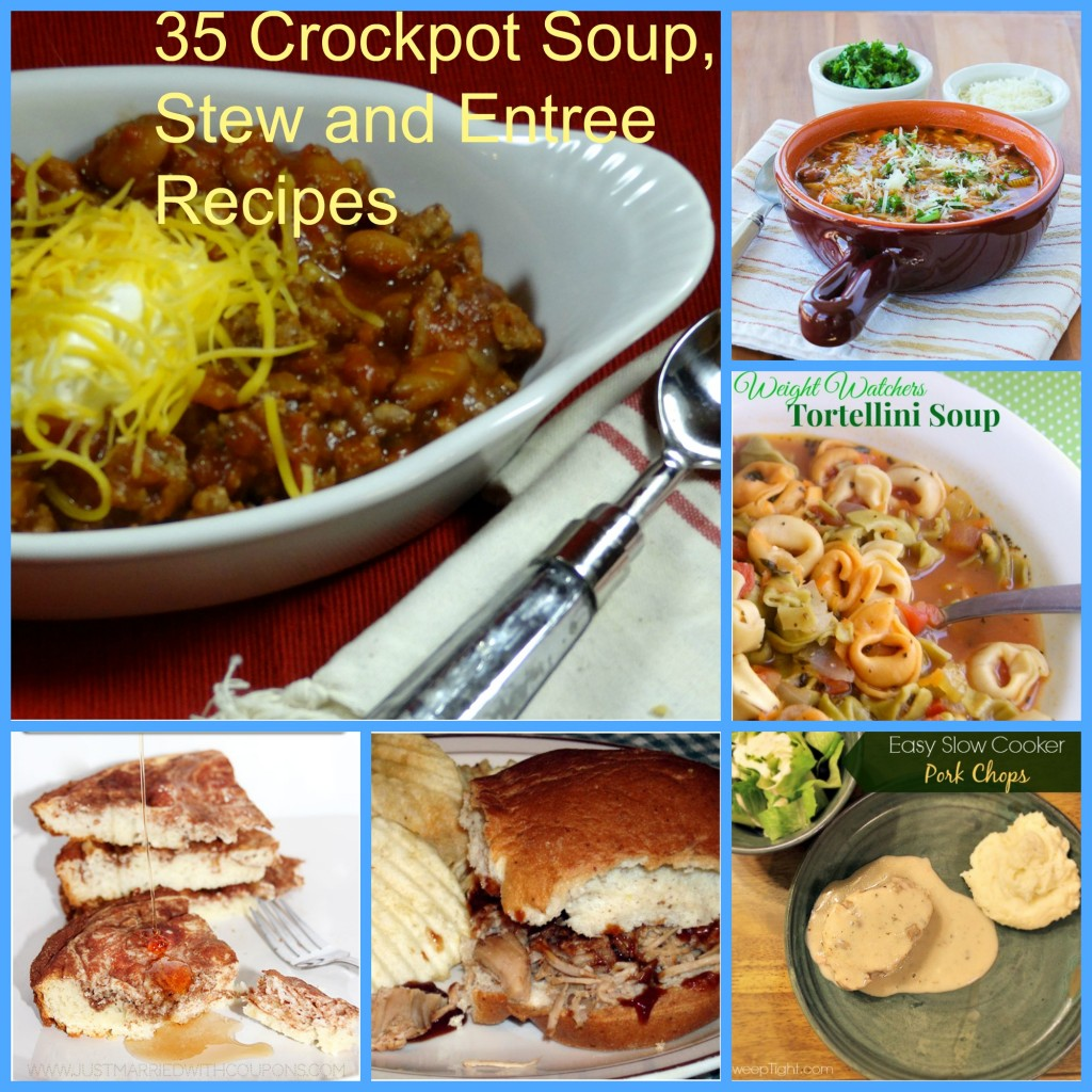 35 Crockpot Soup, Stew and Entree Recipes
