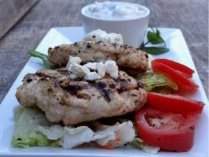 Greek Style Chicken with Tzatziki Sauce (Gluten Free!