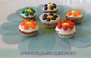 Spring Flower Cupcakes Ideas  #Recipe