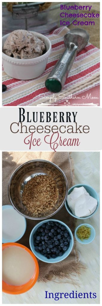 It's summer! Need a way to cool down? Try this delicious Blueberry Cheescake Ice Cream Recipe. It only has a few ingredients and can be made gluten free by using gluten free graham crackers.