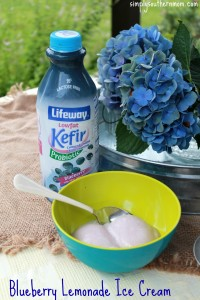 Homemade Blueberry Kefir Lemon Ice Cream
