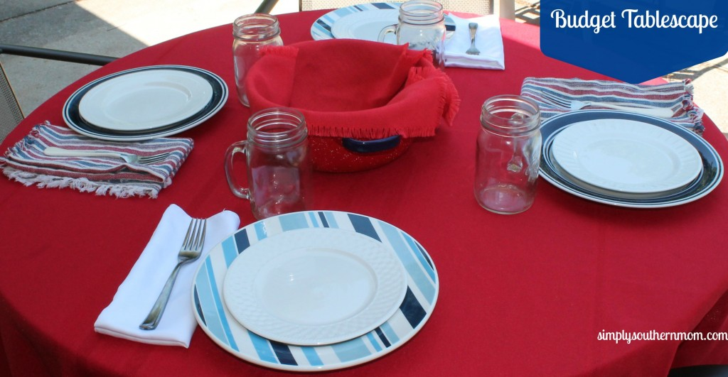 budget tablescape