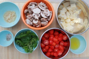 Grilled Portabello Mushrooms & Mozzarella Salad  (gluten free too!)