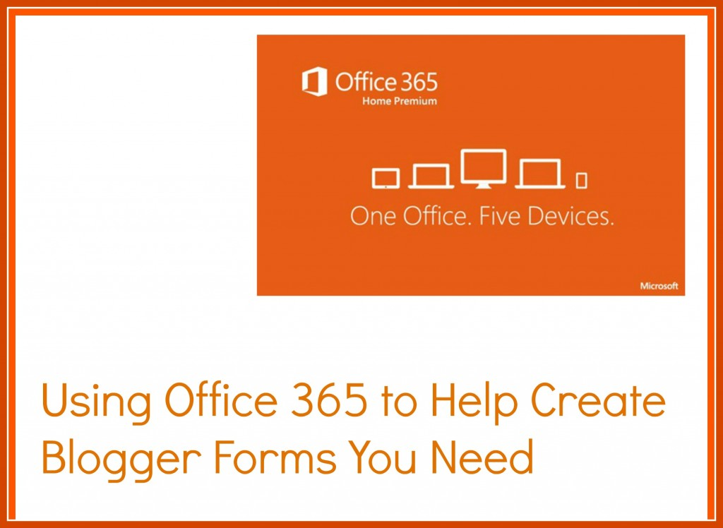 Office 365 Blogger Forms