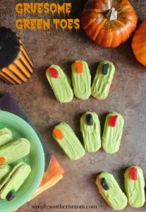 Gruesome Green Toes -Easy Halloween Recipe
