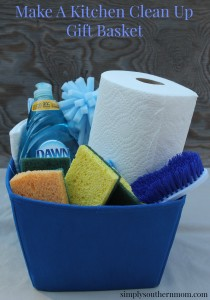 Make a Kitchen Cleaning Gift Basket