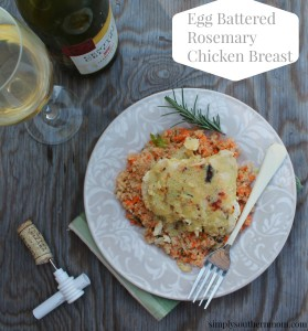 Egg Battered Rosemary Chicken Breast Recipe