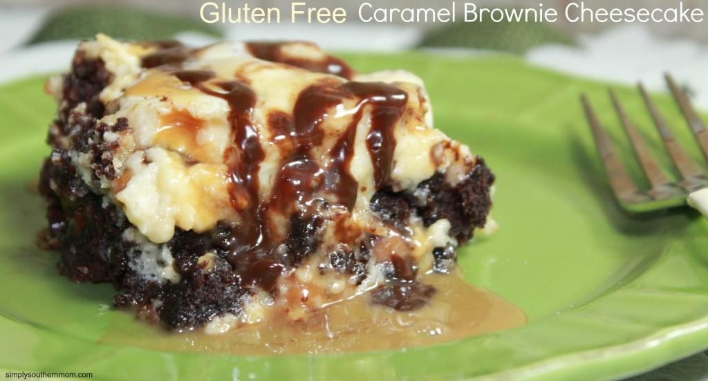 Gluten Free Caramel Brownie Cheesecake Recipe - Simply Southern Mom