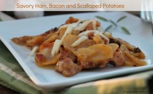 Savory Scalloped Ham, Bacon & Potatoes Recipe