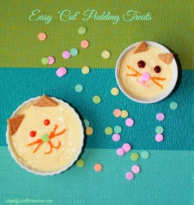 "How to Make A ""Cat"" Pudding Snack For Kids"