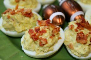Gluten Free Bacon Blue Cheese Deviled Eggs Recipe