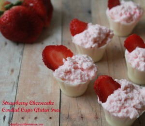 Strawberry Cheesecake Cordial Cups