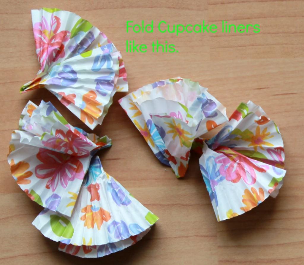 fold cupcake liners