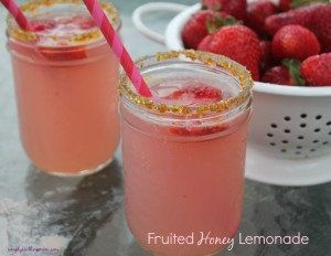 Fruited Honey Lemonade Recipe (Gluten Free)