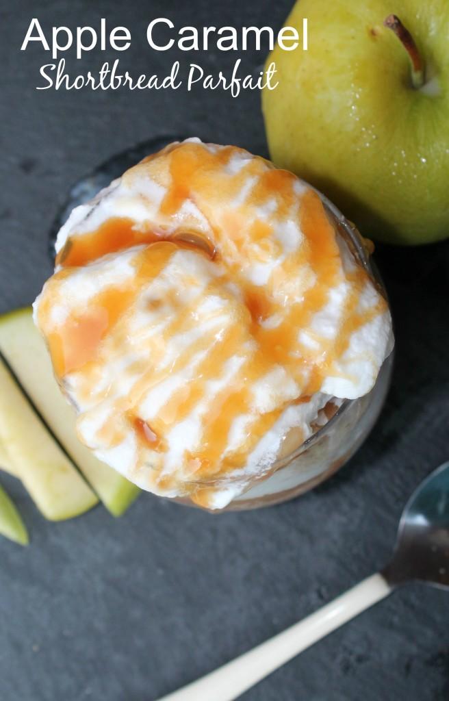 Apple Caramel Shortbread Parfait