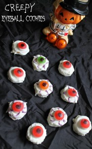 Bloodshot Eyeball Cookies Recipe for Halloween