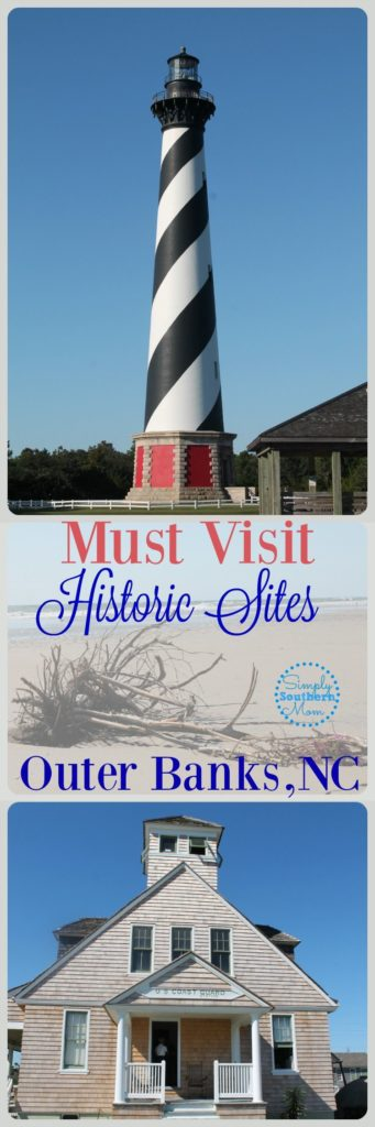 Planning a trip to the Outer Banks in North Carolina?  It's full of history! Here are must visit historical sites your family will enjoy.