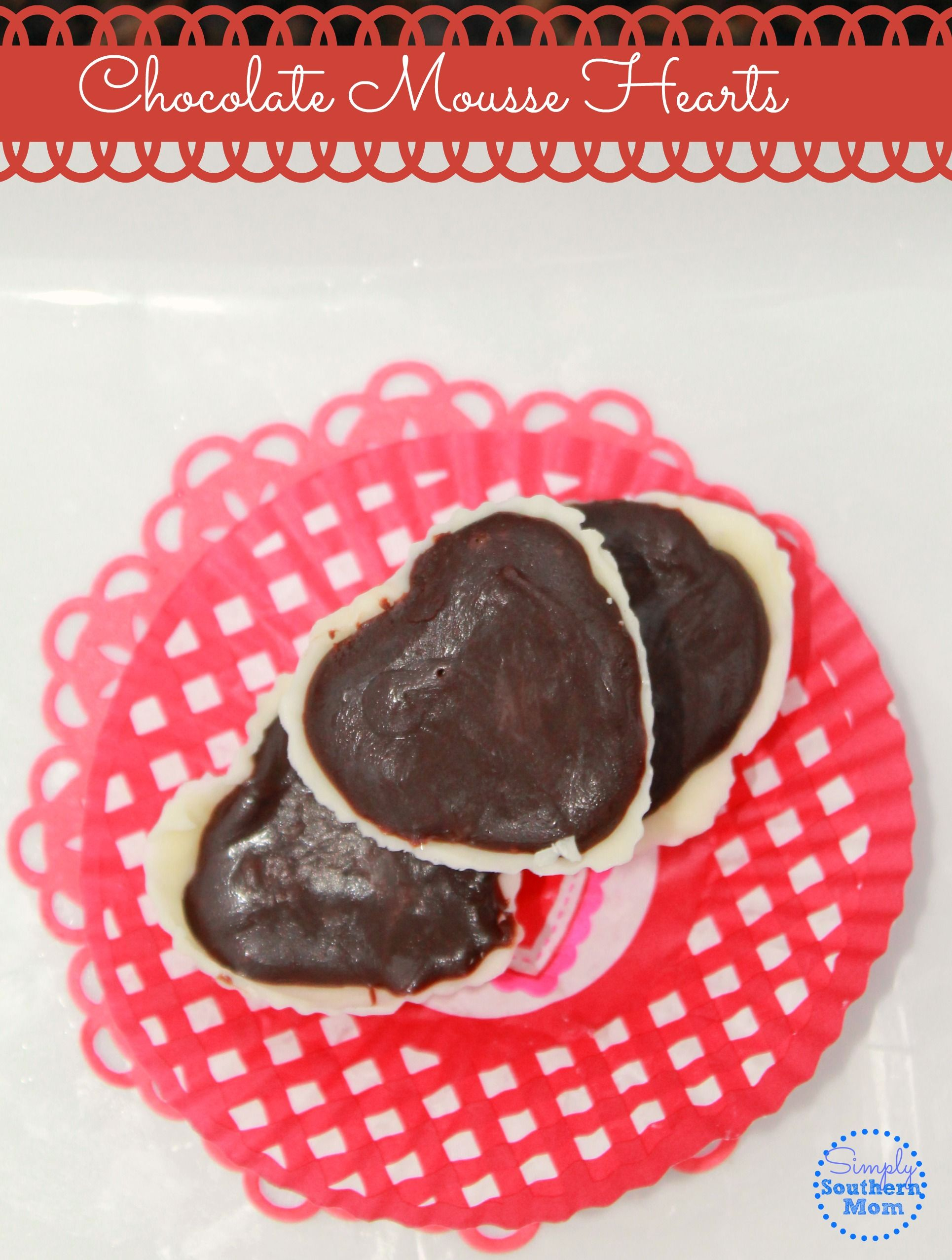 Valentine's Day Chocolate Mousse in Heart Shells - Simply Southern Mom