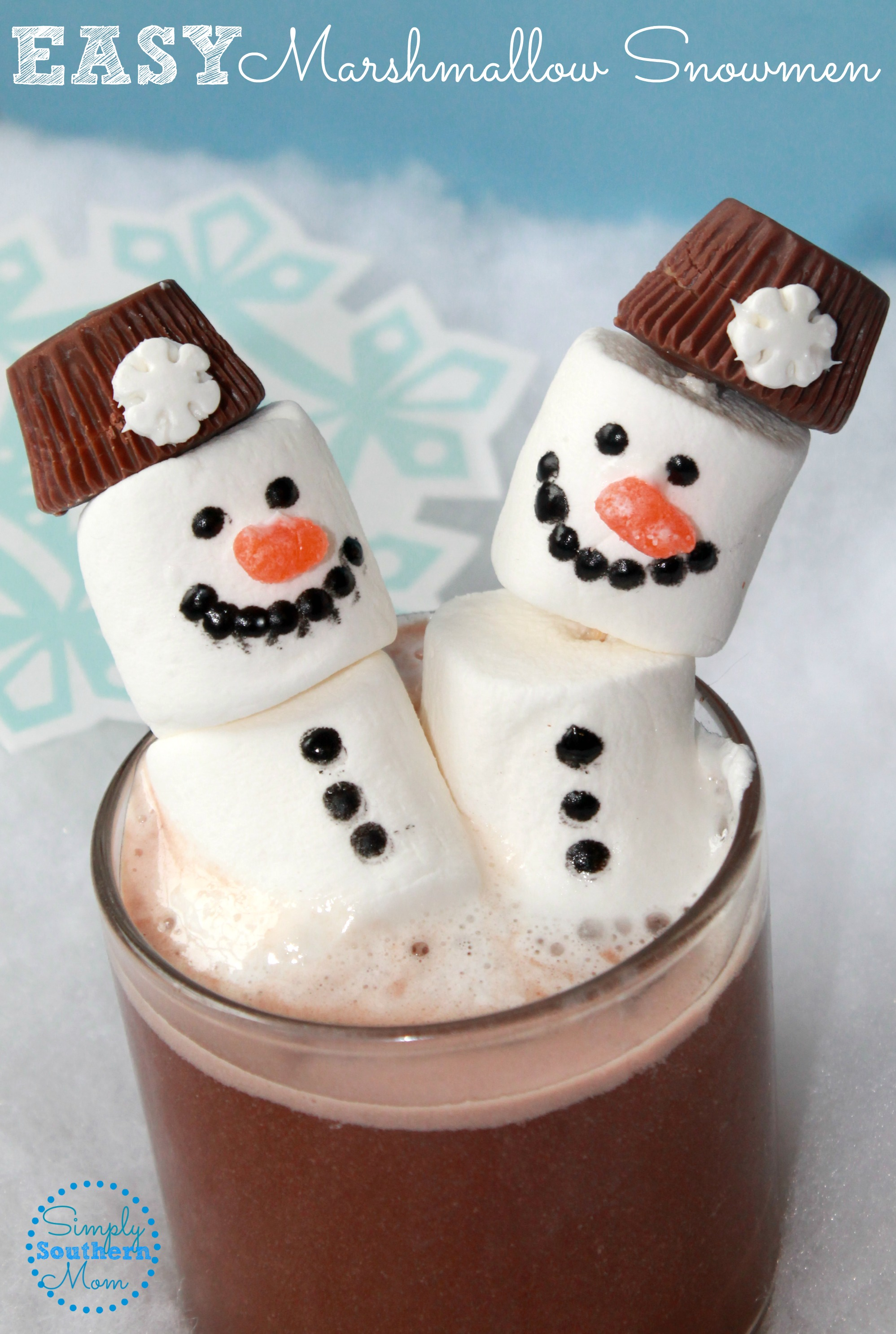 Easy Snowman Snack: How To Make An Easy Marshmallow Snowman