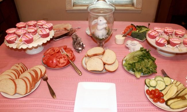 baby shower turned out perfectly and everyone commented on the food