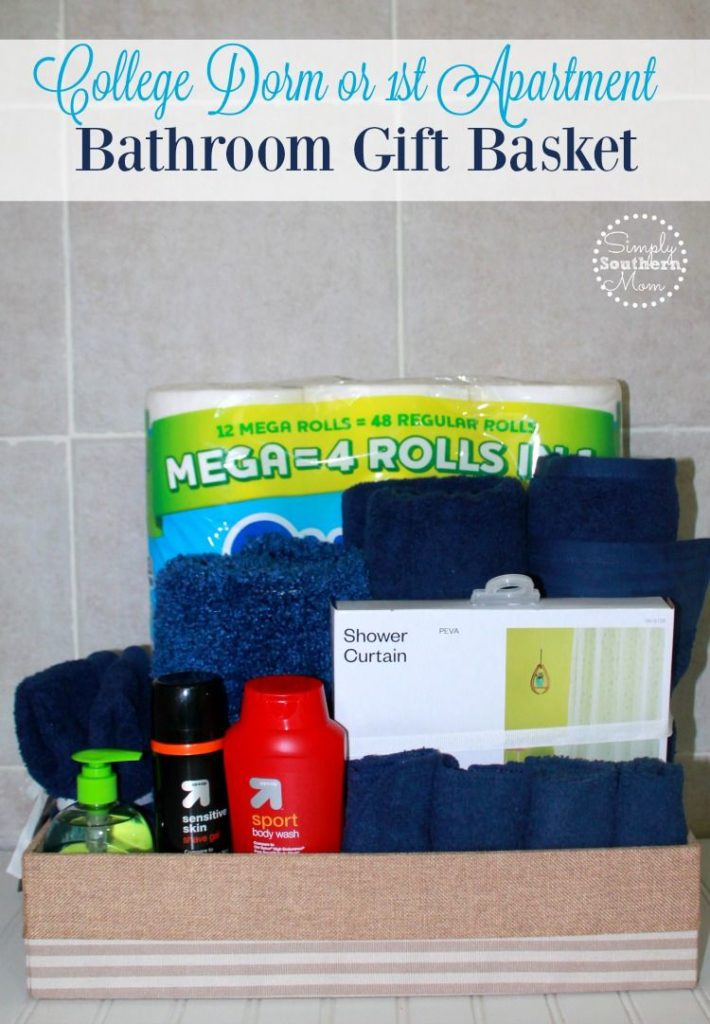 Do you have a college student returning to the dorm or know someone in their first apartment? Here's how to make a bathroom gift basket that they will need and use.