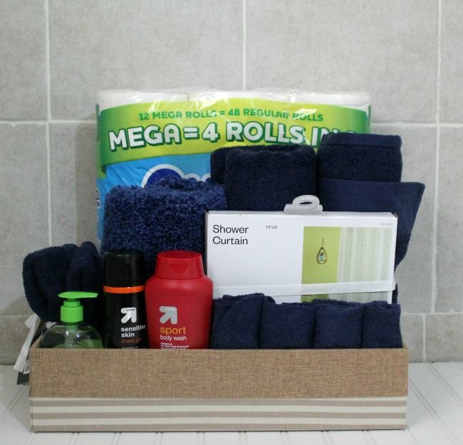 Make a Bathroom Gift Basket