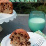 Gluten Free Peanut Butter Chocolate Chip Banana Bread Recipe