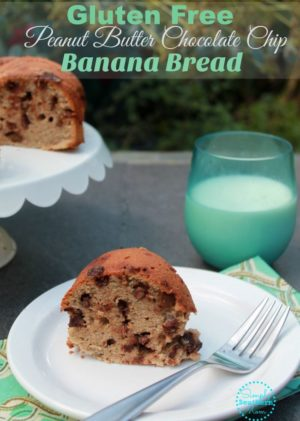 Gluten Free Peanut Butter Chocolate Chip Banana Bread Recipe