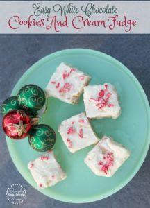 Easy White Chocolate Cookies and Cream Fudge Recipe