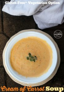 Easy Cream of Carrot Soup Recipe