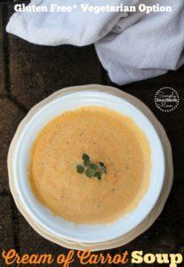 Easy Cream of Carrot Soup Recipe