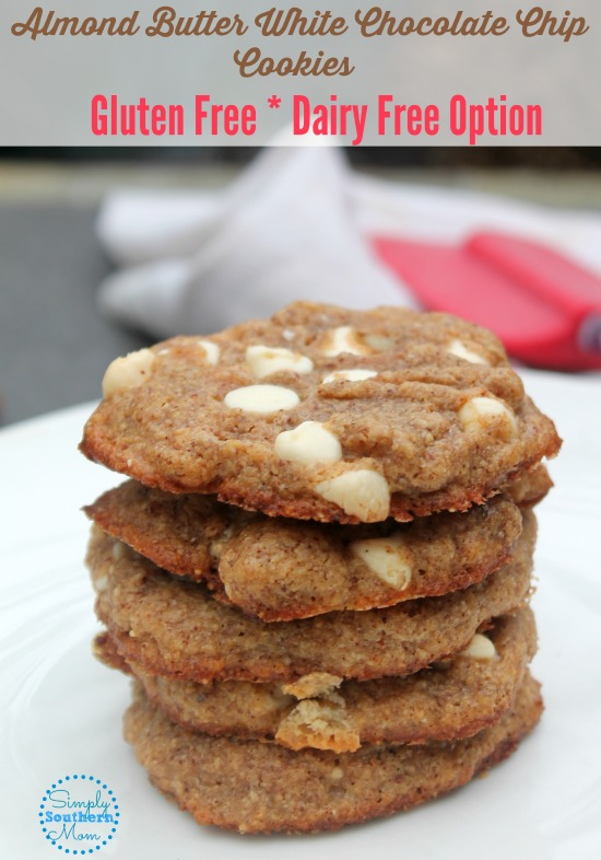 almond butter white chocolate chip cookies recipe