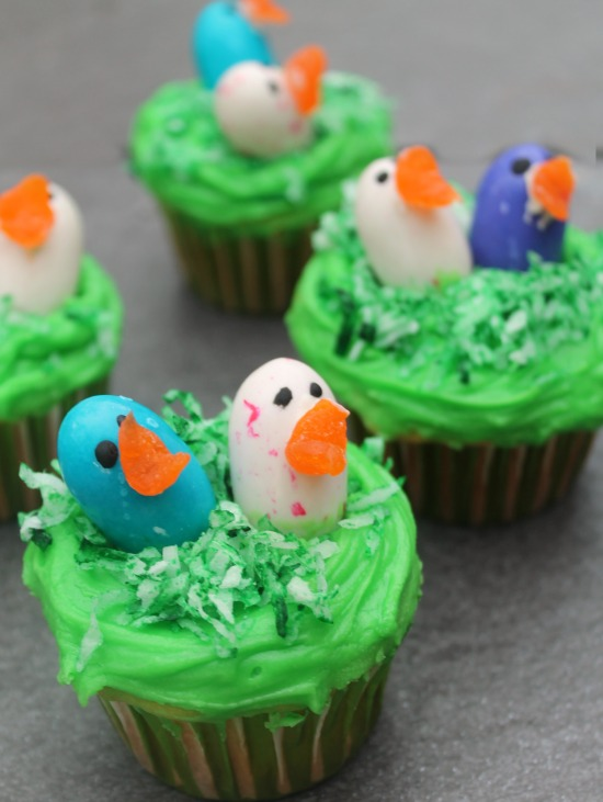 Bird's Nest cupcakes recipe