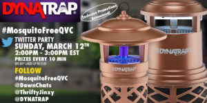Don't Miss the DYNATRAP MosquitoFreeQVC Twitter Party