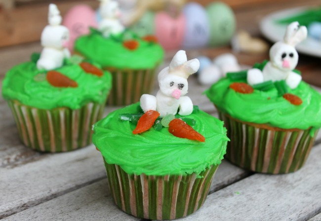 Bunny Cupcakes for Easter