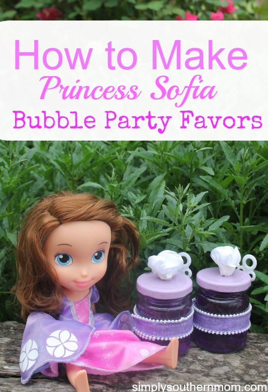 How to Make Princess Sofia Bubble Party Favors