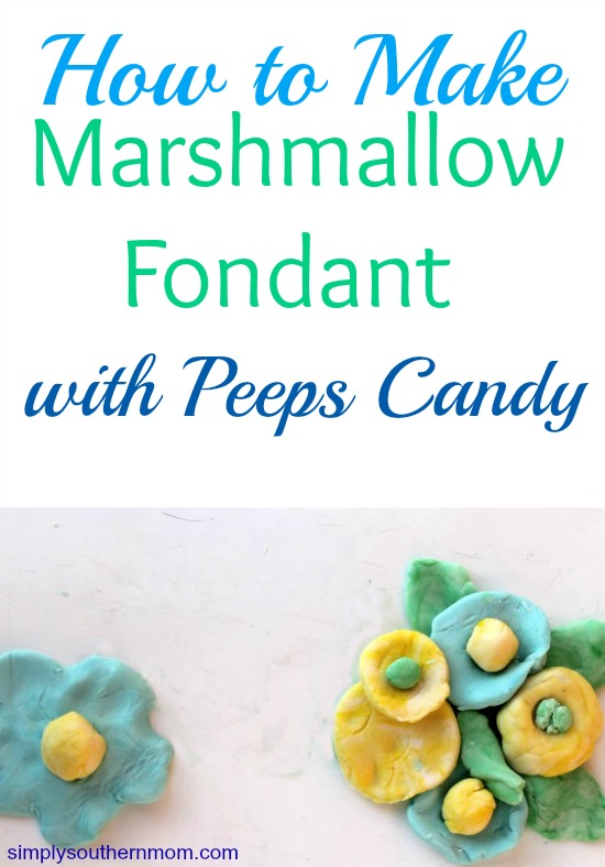 Marshmallow Fondant with Peeps Candy