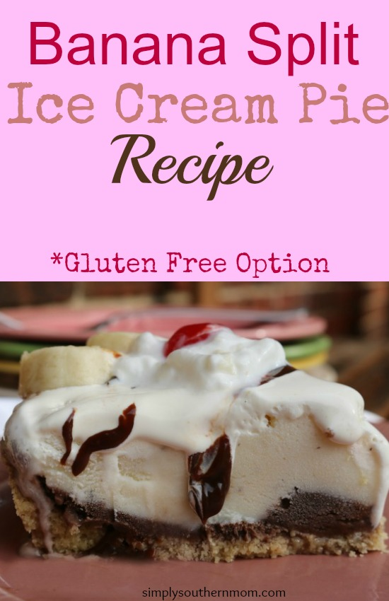 Banana Split Ice Cream Pie Recipe Pin