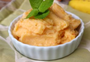 Allergy Friendly Vegan Peach Sherbet Recipe