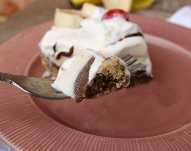 banana split ice cream pie recipe