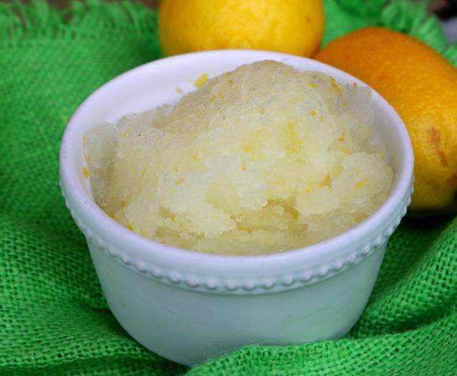 Lemon Granita from Scratch