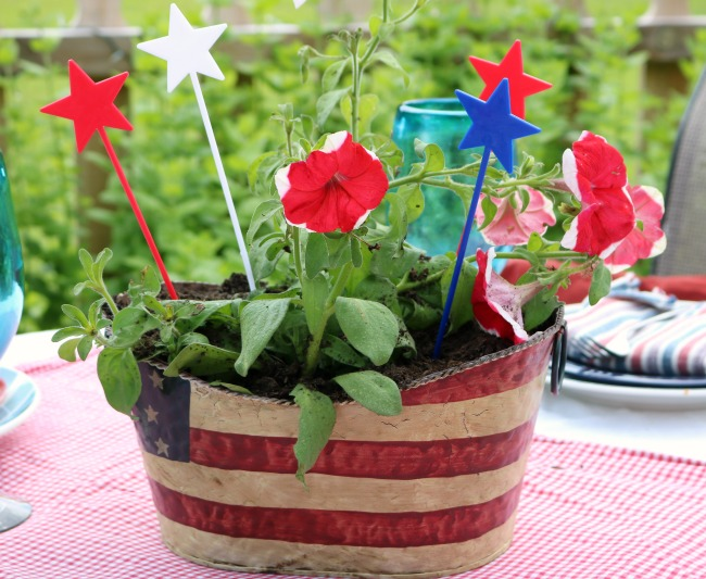Planter for 4th of july