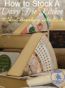 How to Stock a Dairy Free Kitchen