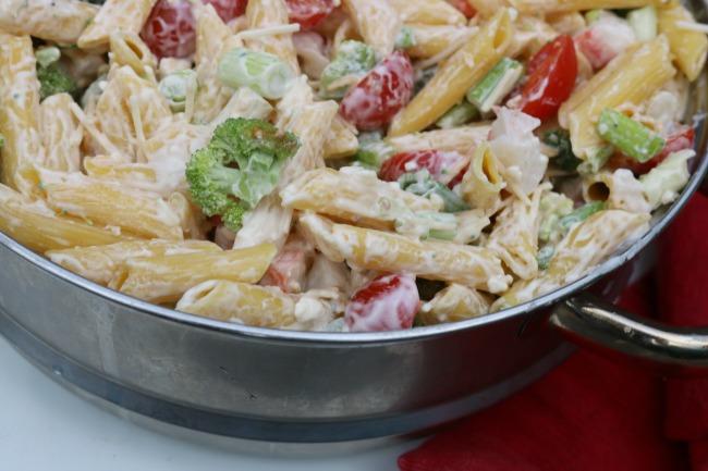 Crab Pasta Salad Recipe with Gluten Free Option