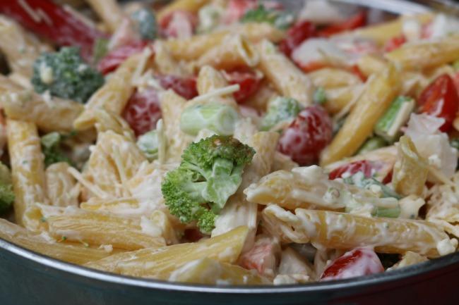 Gluten Free Crab Pasta Salad